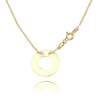 Ah! Jewellery Gold Over Sterling Double Open Circle Necklace
