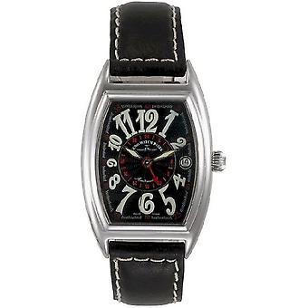 Zeno-watch montre tonneau rétro (temps double) 8081GMT-h1