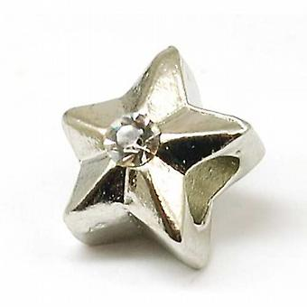 TOC BEADZ Stone Set Star 13mm Slide-On Off Charm Bead