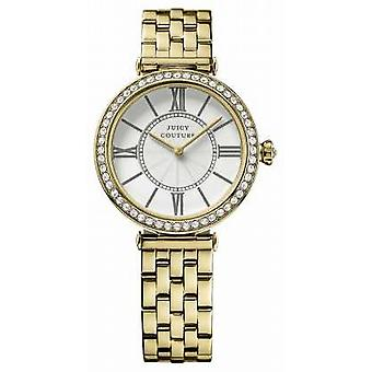 Juicy Couture Womens J, Gold Plate, Silver Dial 1901127 Watch