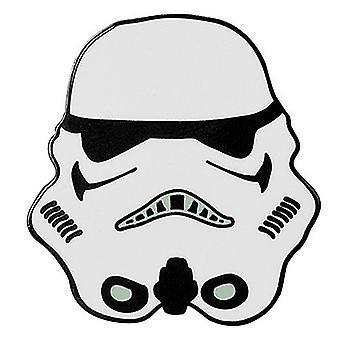 Star Wars Stormtrooper metal / enamel mini pin badge 30mm x 30mm (aby)