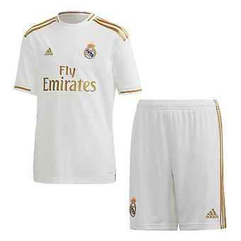 adidas Real Madrid 2019/20 Kinder Fußball Home Kit Set weiß/Gold