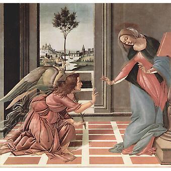 La Anunciacion, Sandro Botticelli, 50x48cm