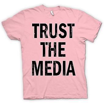 Womens T-shirt - Trust The Media - Funny