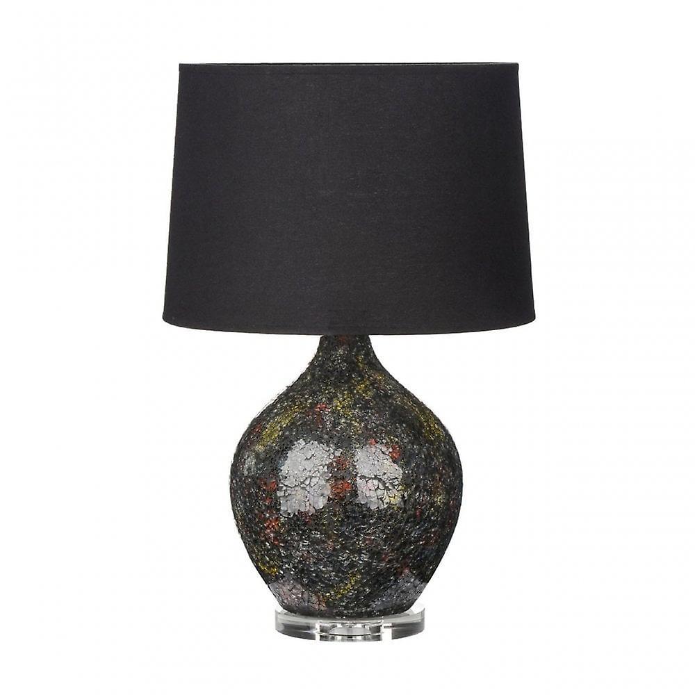 Premier Home Feature Lamp, Glass, Multi-Colourouge