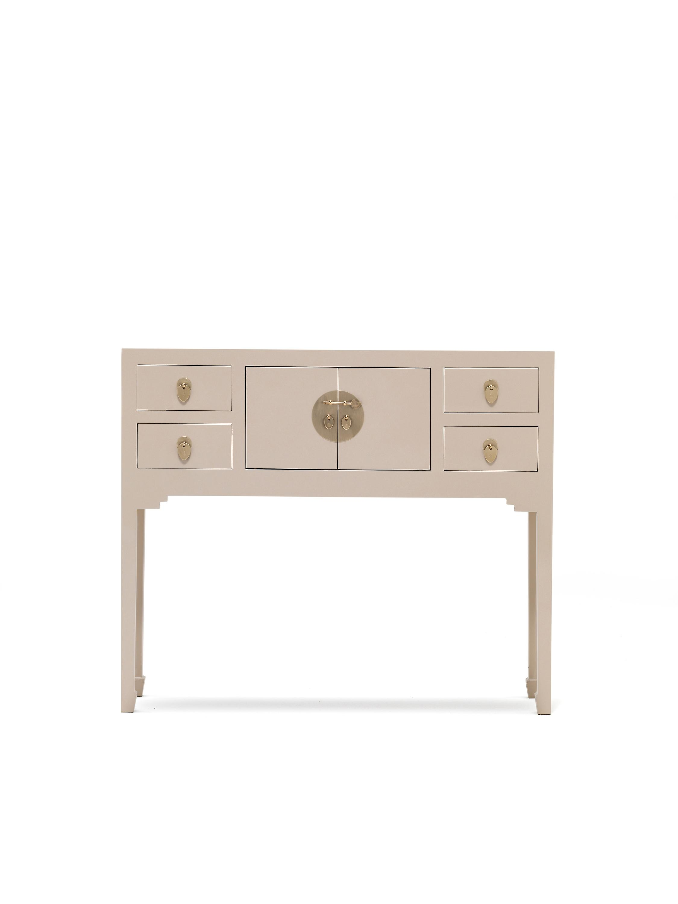 Les neuf écoles Qing Oyster gris petite Console Table - Baumhaus