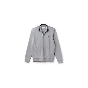 Lacoste Full Zip Knitwear Light Grey