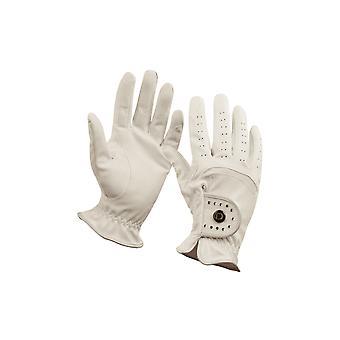 Dublin Diamante Patent Dressage Adults Riding Gloves - White