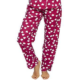 Cyberjammies 4220 Women's Susie Cherry Red Heart Print Cotton Pyjama Pant