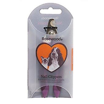 Rosewood Soft Protection Salon Grooming Nail Clipper, Small