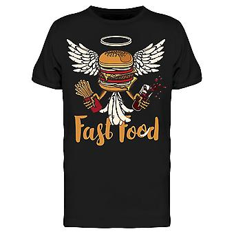 Fast Food With Burger Tee Men's -Image by Shutterstock