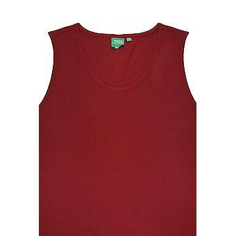 D555 Dark Red Crew Neck Vest