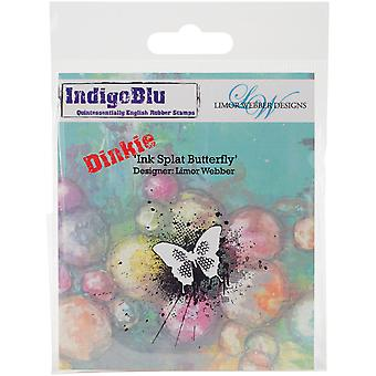 IndigoBlu Cling Mounted Stamp-Ink Splat Butterfly - Dinkie IND0143