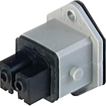 Mains connector Socket, vertical vertical Total number of pins: 2 + PE 16 A Grey Hirschmann STAKEI 200 1 pc(s)
