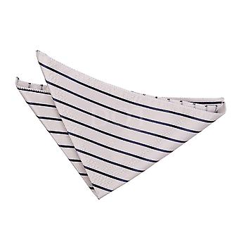 Argent & marine simple mouchoir Stripe / Square de poche