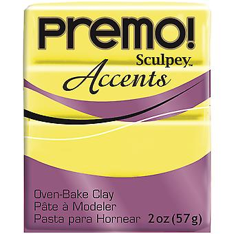 Premo Sculpey Polymer Clay 2oz-Fluorescent Yellow PE02-5600