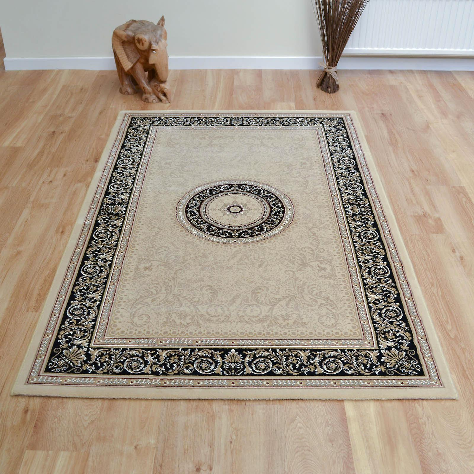 Noble Art Rugs 6572 192 In Cream Black