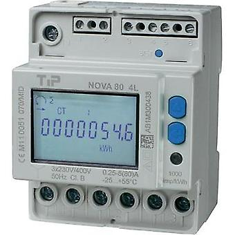 Electricity meter (3-phase) digital 80 A MID-approved: Yes TIP NOVA 80 MID - 4L