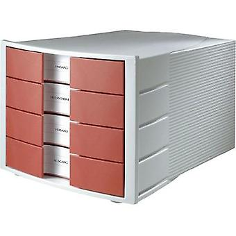 Drawer Pulse light Grey / Red