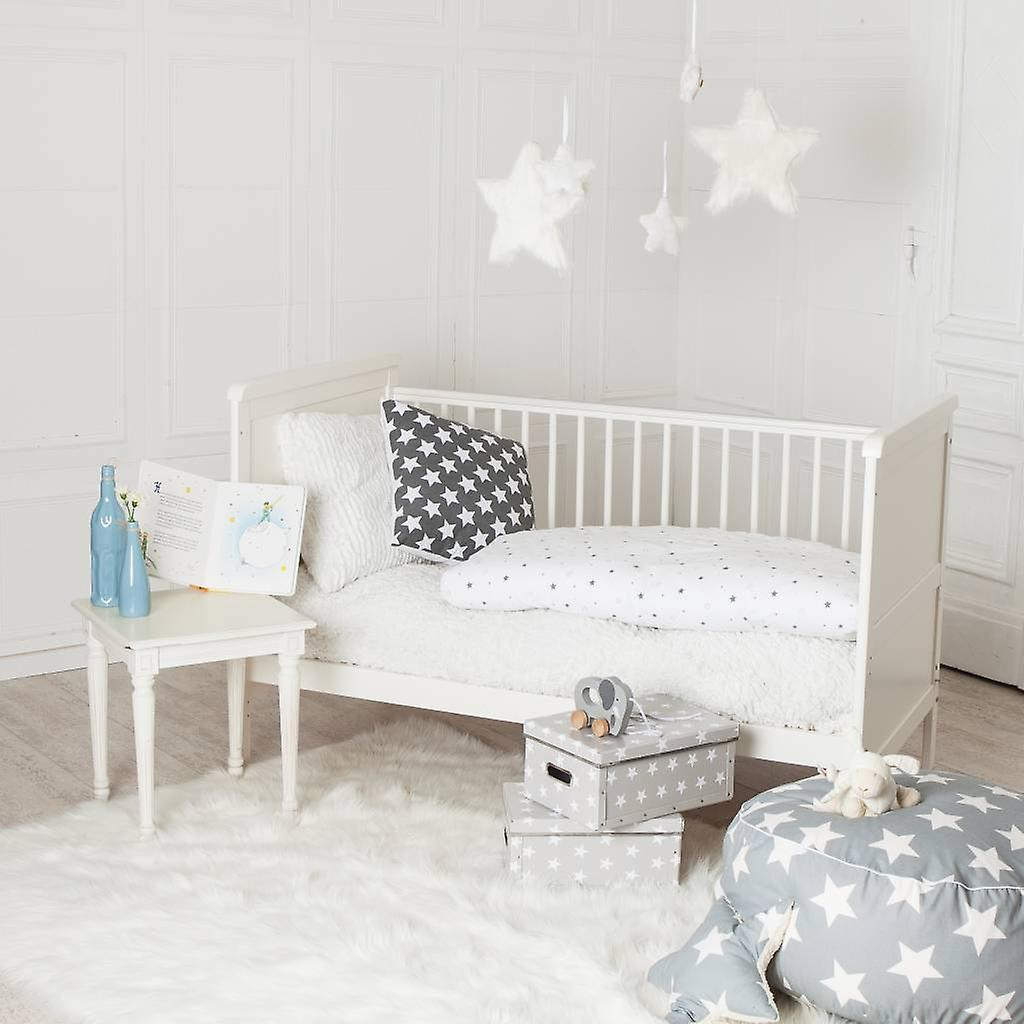 puckdaddy babybett wei auch zum kinderbett umbaubar. Black Bedroom Furniture Sets. Home Design Ideas