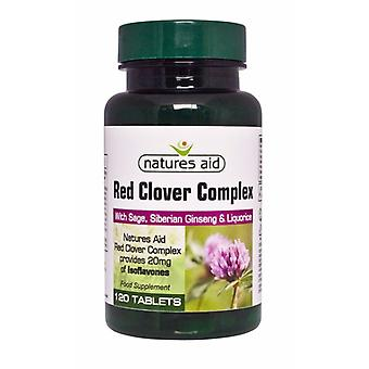 Natures Aid, Red Clover Complex with Sage, Siberian Ginseng & Liquorice 120 tablets
