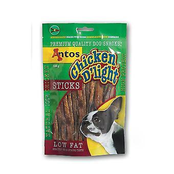 Antos kylling D'light Sticks 100g (pakke med 10)