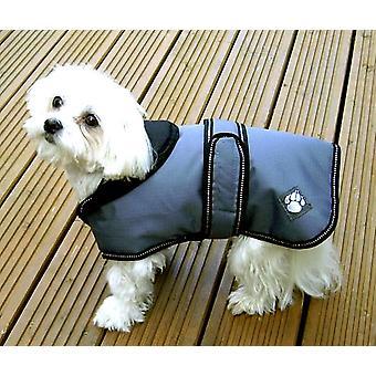 Luksus jakke støvet blå vandtæt hunde frakke 75cm (30