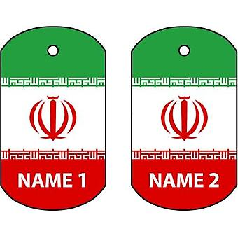 Personalised Iran Dog Tag Car Air Freshener