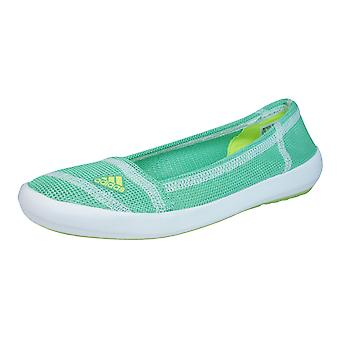 adidas Boat Slip-On Sleek Womens Trainers / Water Shoes - Green