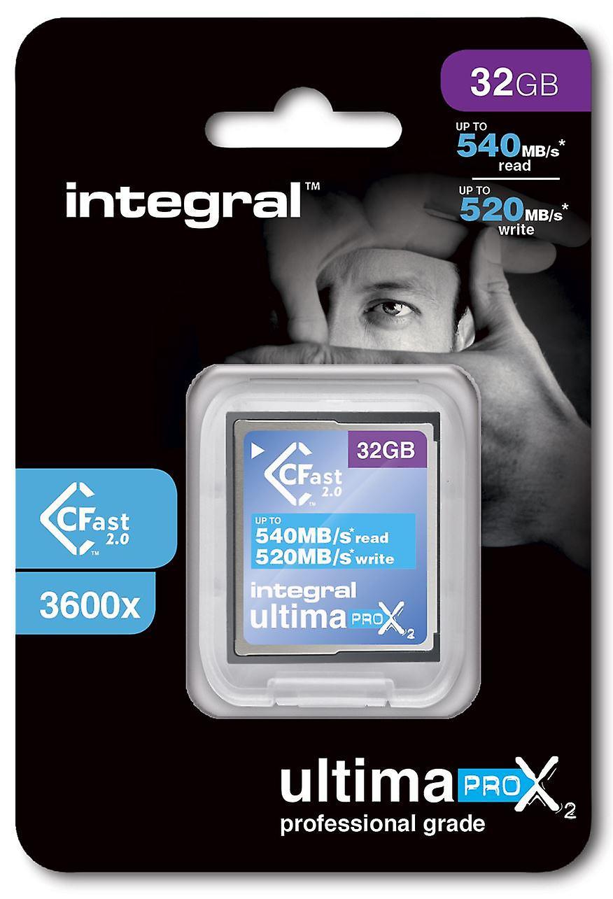 20R1/I1: Integral 32GB 3600X Speed UltimaPro X2 CFast 2.0 Card. INCFA32G-540/520
