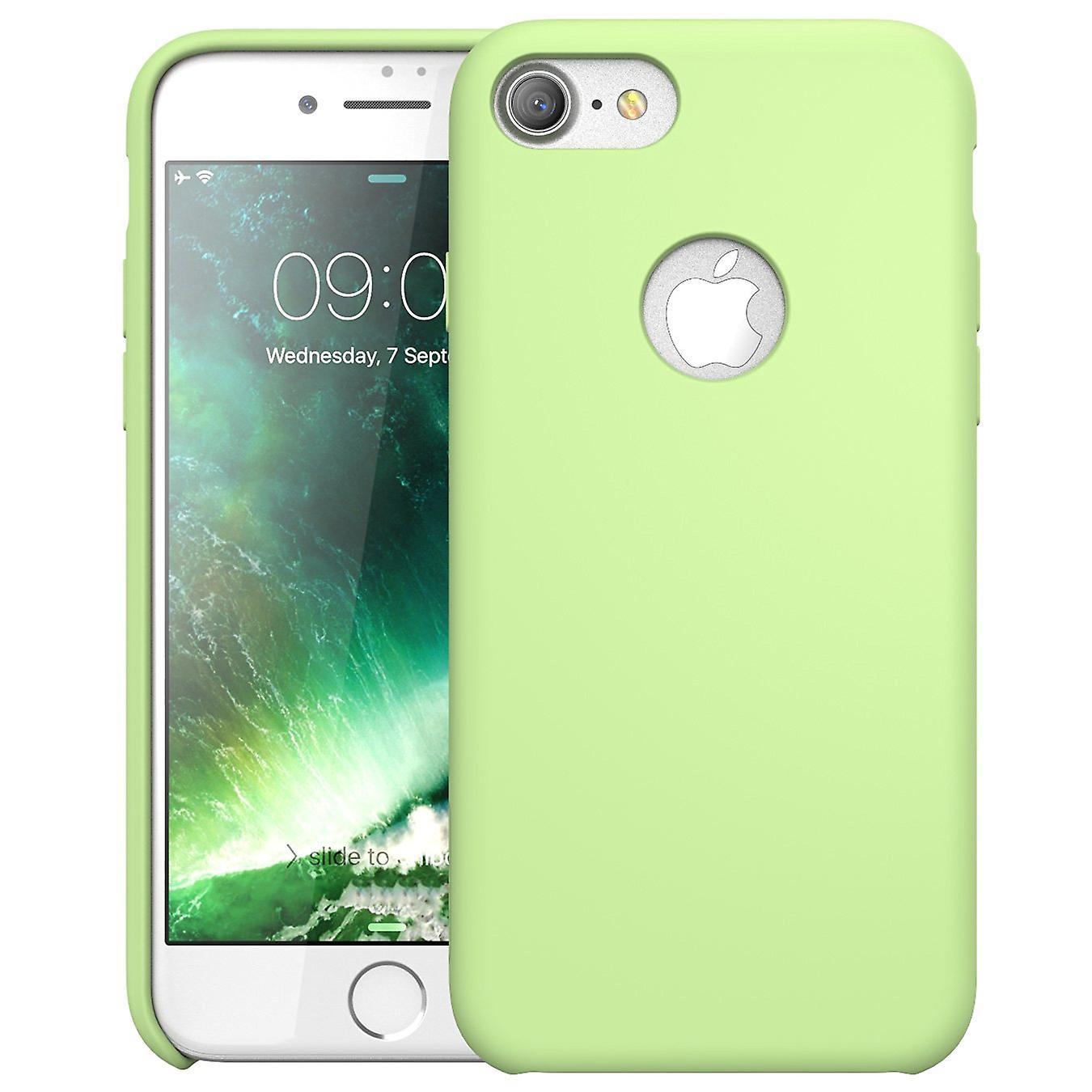 iPhone 7 Case,i-Blason-Silicone [Flexible] Case-Shock Absorbing-Green
