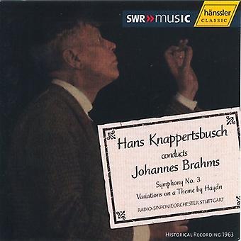 J. Brahms - importación de Estados Unidos Hans Knappertsbusch dirige Brahms [CD]