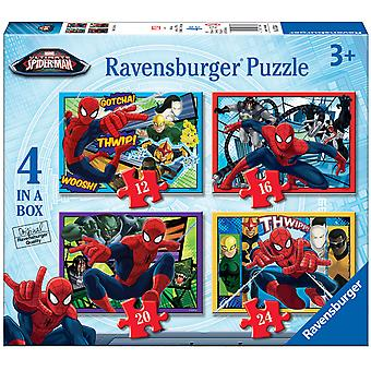 Ravensburger Spiderman Puzzle 4X1 - 12-16-20-24 Piezas