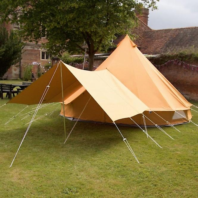 Boutique Camping Bell Tent Canopy Awning - Tangerine Orange