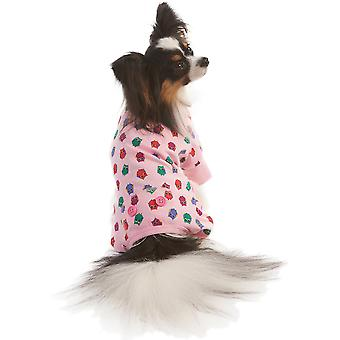 Owl Print Dog Pj's-Pink Medium 200345