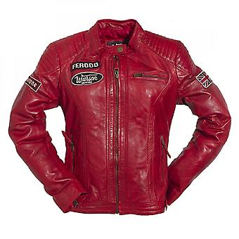 Warson Motors Warson Motors Ladies Grand Prix Leather Jacket Red