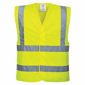 Portwest - Hi-Vis Workwear zwei Sicherheitsring & Klammer Weste