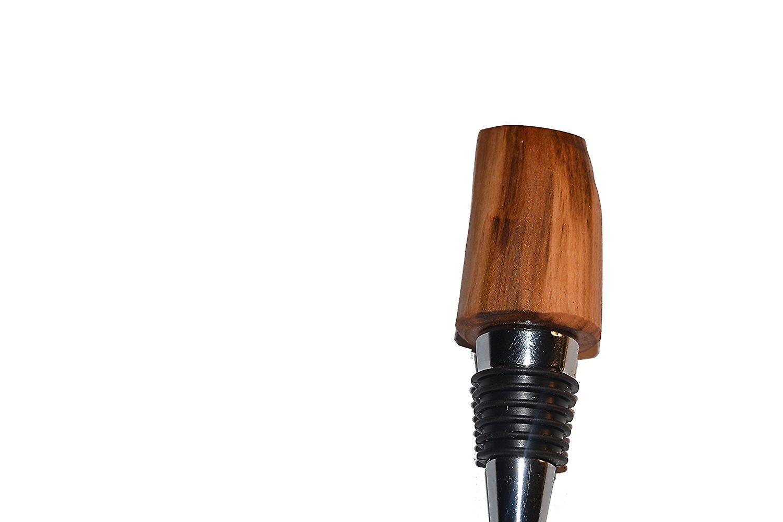 Holz Weinstoppen Weinverschluss Weinstoepsel Weinstopfen Flaschenverschluss Holz Edelstahl Kirschholz Kirsche handmade Unikat Geschenk Geschenkidee