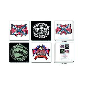 Lynyrd Skynryd 4 x Coaster band logo new official Set in presentation box
