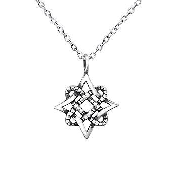 Vintage Star - schlichte Halsketten 925 Sterling Silber - W30883x