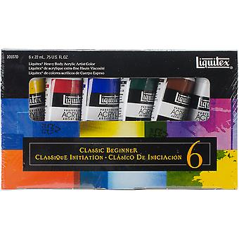 Liquitex Heavy Body Acrylic Classic Beginner Set 6 Pkg 101070