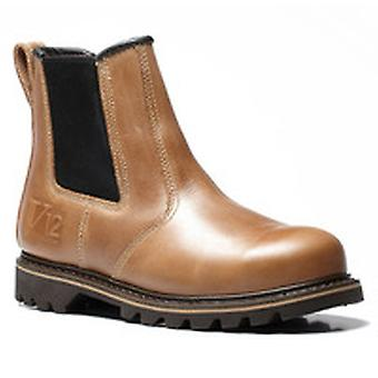 V12 V1241 Stampede Vintage Leather Dealer Boot EN20345:2011-Sbp Size 9