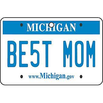 Michigan - Best Mom License Plate Car Air Freshener