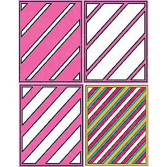 Pink And Main Dies-Layered Stripes PNM126