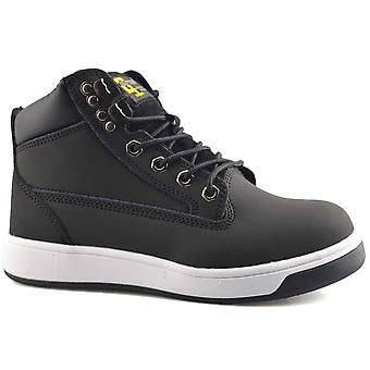 Ladies Womens Mens Action Nubuck Leather Safety Ankle Work Boots Shoes