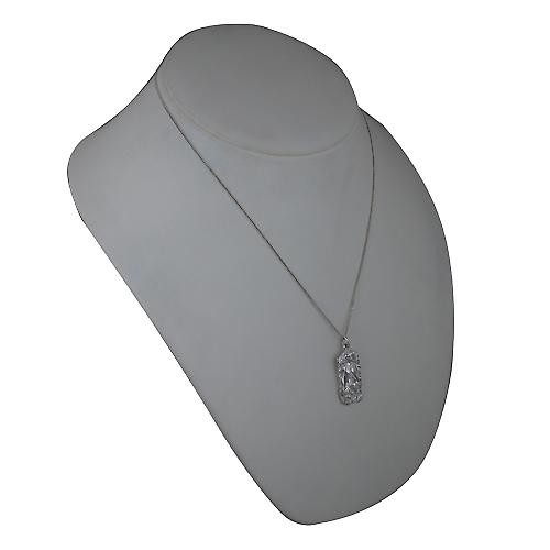 Silver 33x17mm Scorpio Zodiac Pendant with a Curb chain