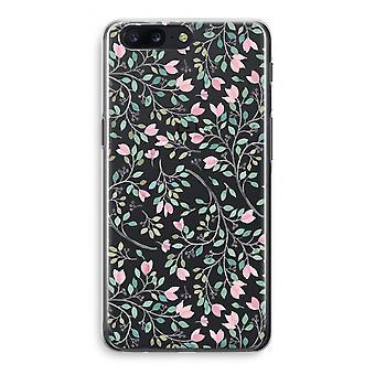 OnePlus 5 Transparant Case - Dainty flowers