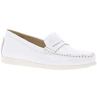 CAPRICE leather slipper Mokkassins ladies white