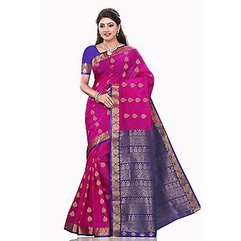 Madhu Violet kunst zijde Sari Saree buikdansen Wrap