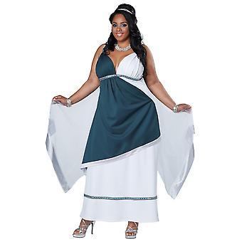 Roman Beauty Goddess Greek Toga Ancient Party Dress Up Women Costume Plus